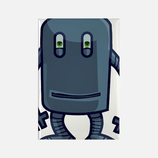 Alien Buddies Robot Rectangle Magnet