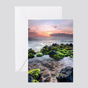 hawaiian tidal pool sunset Greeting Card
