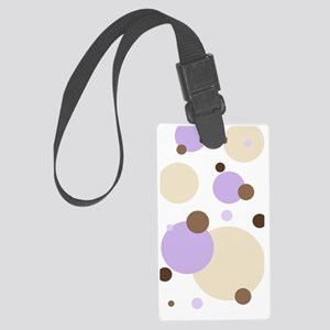 Retro Dots iPhone 3g Purple n Br Large Luggage Tag