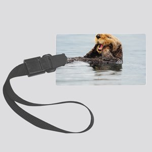 385x245_wallpeel_otter_1 Large Luggage Tag