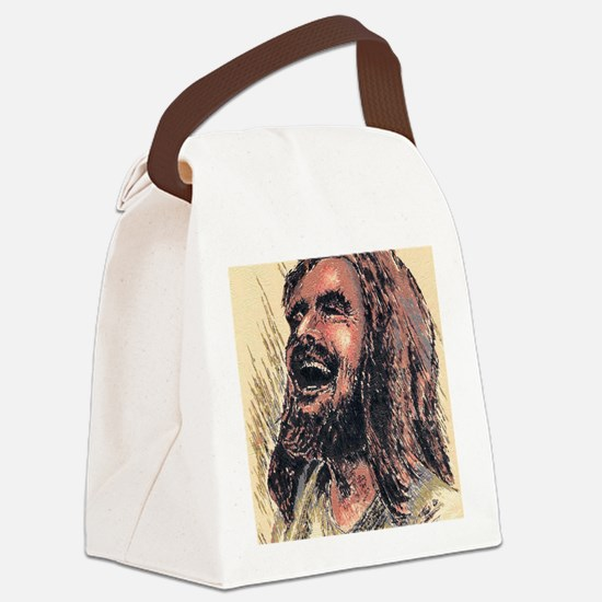 Laughing_Jesus Canvas Lunch Bag
