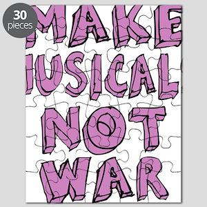 MAKE-MUSICALS-NOT-WAR-PURPL Puzzle
