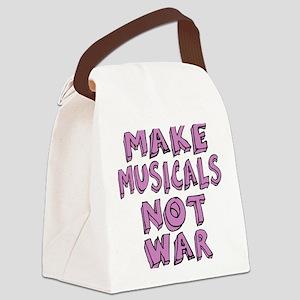 MAKE-MUSICALS-NOT-WAR-PURPL Canvas Lunch Bag