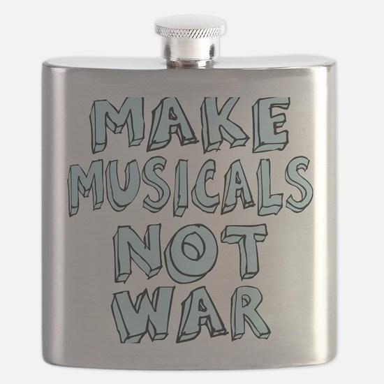 MAKE-MUSICALS-NOT-WAR2 Flask