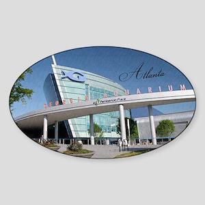 Atlanta_5x3rect_sticker_GeorgiaAqua Sticker (Oval)
