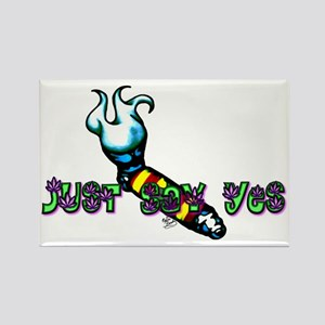 Just Say Yes Pipe Rectangle Magnet