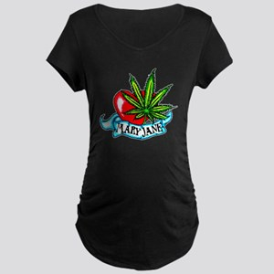 Mary Jane Heart Maternity Dark T-Shirt