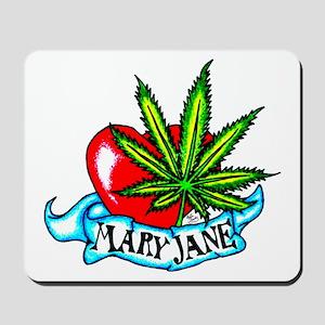 Mary Jane Heart Mousepad