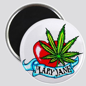 Mary Jane Heart Magnet