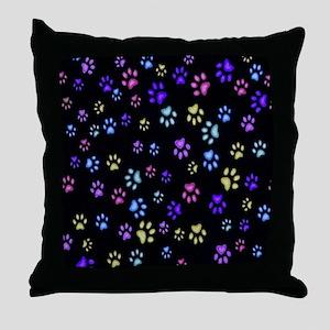 Catty Paws copy Throw Pillow