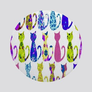 Calico Cat copy Round Ornament