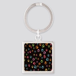 Catty Paws Square Keychain