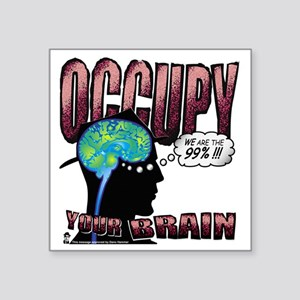 "occupy Square Sticker 3"" x 3"""