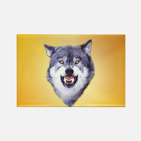 courage_wolf3 Rectangle Magnet