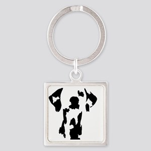 silhouette Square Keychain