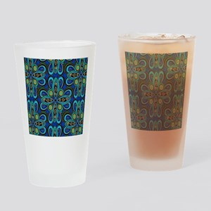 Floral Blue Drinking Glass