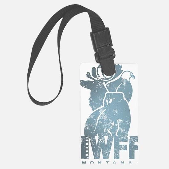 IWFF-retro-blugreen Luggage Tag