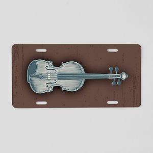 violin1-OV Aluminum License Plate