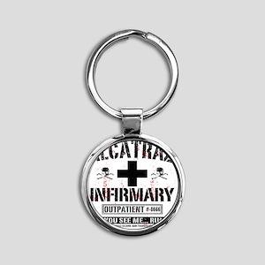 ALCATRAZ_INFIRMARY_b Round Keychain