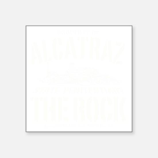 """ALCATRAZ_THE ROCK-2_w Square Sticker 3"""" x 3"""""""
