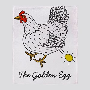 The Chicken That Lays the Golden Egg Throw Blanket