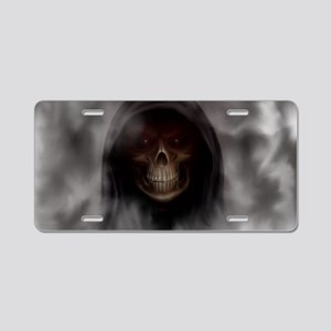 Grim Reaper red eye LT  Aluminum License Plate