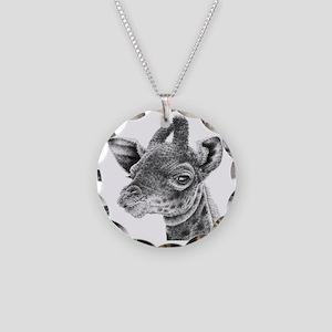 Giraffe Calf (Tile coaster)  Necklace Circle Charm