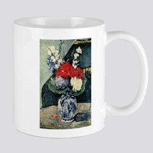 Small Delft vase with flowers - Paul Cezanne - c18