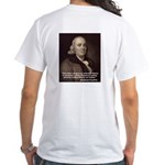 "Ben Franklin ""Essential Liberty"" White T-Shirt"
