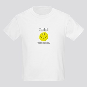 smile! there is no hell.  Kids T-Shirt