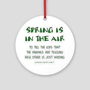 Spring Ticklin' Ornament (Round)