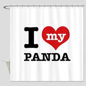 i love my Panda Shower Curtain
