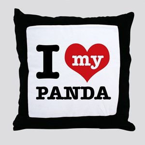 i love my Panda Throw Pillow