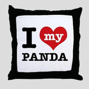 i love my Panda Throw Pillow