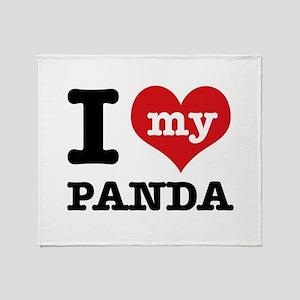 i love my Panda Throw Blanket