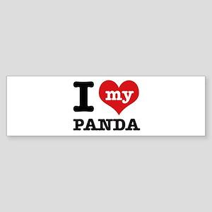 i love my Panda Sticker (Bumper)