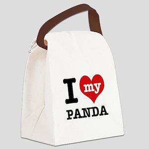 i love my Panda Canvas Lunch Bag