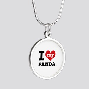 i love my Panda Silver Round Necklace