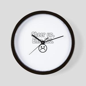 Cheer up, emo kid  Wall Clock