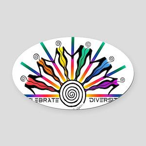 Diversity Strip Oval Car Magnet
