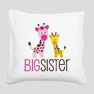 GiraffeBigSisterV2 Square Canvas Pillow