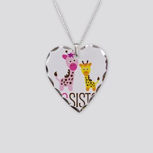 GiraffeBigSisterV2 Necklace Heart Charm