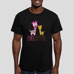 GiraffeBigSisterV2 Men's Fitted T-Shirt (dark)