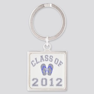 Class Of 2012 Flip Flop Grey-Blue  Square Keychain
