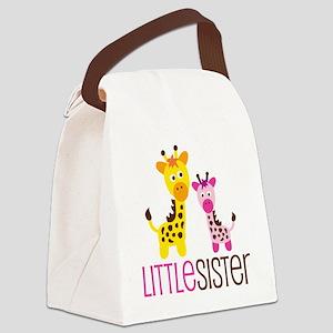 GiraffeLittleSisterV2 Canvas Lunch Bag