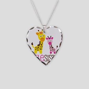 GiraffeLittleSisterV2 Necklace Heart Charm