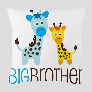 GiraffeBigBrotherV2 Woven Throw Pillow
