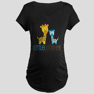 GiraffeLittleBrotherV2 Maternity Dark T-Shirt