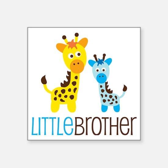 "GiraffeLittleBrotherV2 Square Sticker 3"" x 3"""
