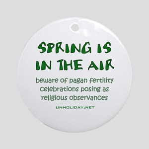 Spring Pagan Festivals Ornament (Round)